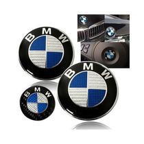 7 Piezas Emblema Bmw Fibra De Carbono Azul Blanco Accesorios