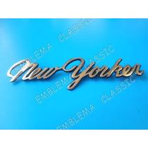 Emblema Chrysler New Yorker Dorado Cajuela