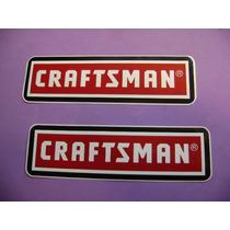 Jgo De 2 Stickers Calcomanias Craftsman Tuning!!!