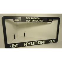Hyundai Porta Placas Fotoluminiscente,,precio Por Par...