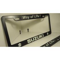 Suzuki Porta Placas Fotoluminiscente Precio Por Par...