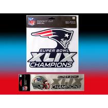 Nfl 2 Calcomanias Emblemas Patriots N. E. Campeones
