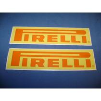 Jgo De 2 Stickers Calcomanias Pirelli Tuning!!!