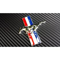 Emblema Mustang Caballo Bandera Emblema Metalico Izquierdo