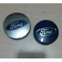 Centro De Rin Ford Azul 54mm Cromado De 62mm