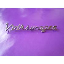 Emblema Volkswagen Scrip Vocho Sedan Cofre Manuscrito