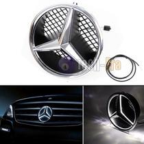 Parrilla Emblema Con Led Mercedes Benz Drl Luz De Dia