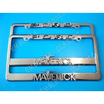 Emblemas Porta Placas Ford Maverick 289 - 302 Metálicas