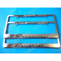 Emblemas Porta Placas Barracuda Plymouth 318 - V8