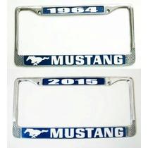 Mustang Porta Placa Metálico Personalizable Portaplacas