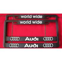Juego 2 Portaplacas - 4 Tapones C/seguro Logo Audi