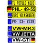 Calcomania Placas Europeas Sticker Vinil Reflejante