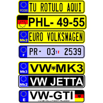 Calcomania Placas Europeas Sticker Vinil Reflejante