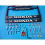 Emblemas Porta Placas Honda Pivotes Seguridad Llavero Kit