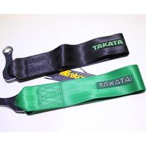 Takata Tow Strap Jalon Tiron Universal Verde Y Negro