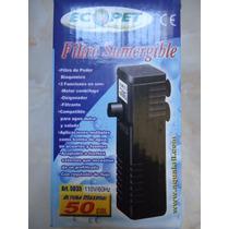 Filtro Sumergible De Poder Mini P/acuarios De 5 A 30 Litros