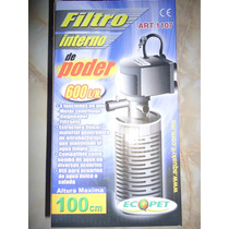 Filtro Interno 600l/h Filtra Oxigena P/acuario 130-200litros