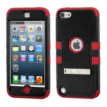 Funda Protector Triple Layer Apple Ipod 5 Negro / Rojo C/p