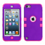 Funda Protector Triple Layer Ipod Touch 5 Morado / Rosa Dobl