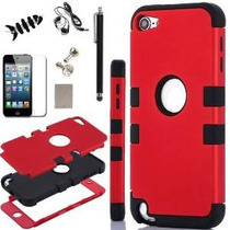 Ipod Touch 5 Case, - Sqdeal 6in1 Pack 3 Capa Dura Y Híbrido