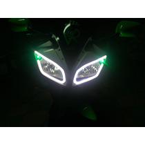 Tiras Led En Faros Motocicleta Kit Con 2 Tiras Goggles Lente