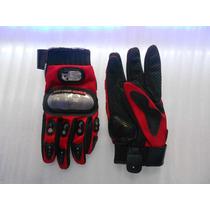 Guantes Probiker Con Proteccion Nudillos Color Rojo Talla L