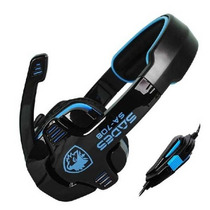 Audifonos Sades Sa-708 Estereo Headset Con Micrófono Azul