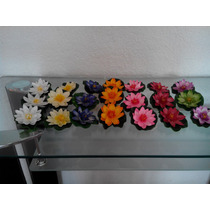 Flor De Loto Artificial Varios Colores Bfn