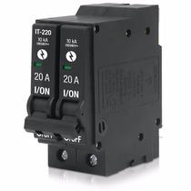 Interruptor Termomagnetico 2 Polos 20a 240v Voltech 26704