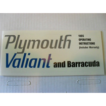 Manual De Propietario De Plymouth Valiant Y Barracuda 1965