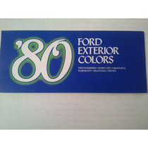 Codigo De Colores De Ford 1980 Mustang, Ltd, Fairmont, Tbird