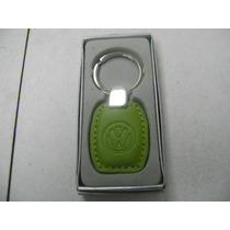 Vw Souvenirs Llavero Vw Piel Verde