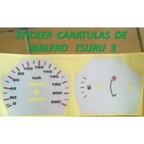 Sticker Vinil Reflejnte Caratula Para Tablero Tsuru 3 Nissan