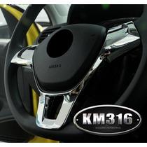 Embellecedor Volante Jetta Polo Vento Golf Mk7 Cromo Espejo