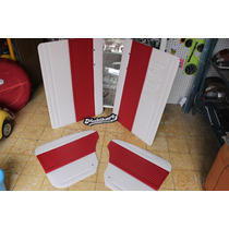 Vocho Tapas De Puertas Tipo Originales Bco/rojo 71 Anteriore