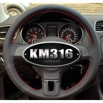 Funda Piel Volante A Medida Vw Jetta Golf Etc Mk6 Hilo Rojo