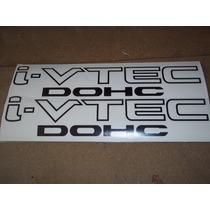 Par De Calcomania Honda V Tec, I Vtec Stickers