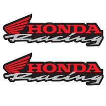 Sticker Motos - Calcomania - Vinil - Emblema Honda Racing