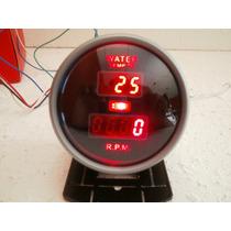 Tacometro 2 En 1 Con Medidores Aceite Agua Volts Base Gratis
