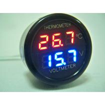 Voltimetro Digital Automotriz Y Termometro Ambiental.