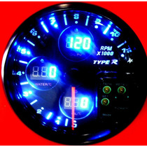 Tacometro 4 En 1 Shiftlight 3 Medidores Digitales Type R Flr