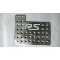 Posapies Logo Rs Racing Sport Aluminio Troquelado Tres Pieza