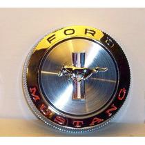 66 Mustang Tapon De Gasolina Cromado Con Logo Y Cable