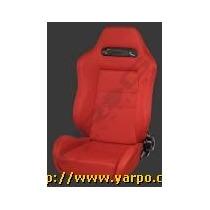 Sillon Para Carro De Piel Rojo Estilo Type- R