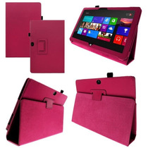 Funda De Piel Microsoft Surface Rt + Mica + Stylus + Regalo