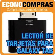 Lector De Tarjetas, Memoria Y Usb Galaxy Tab Nuevo