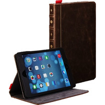 Funda Tipo Libro Retro Ipad Mini Y Retina Book Case Leather