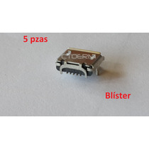 Conector Micro Usb Centro Carga Tablet 5 Pines Tipo B