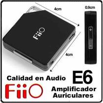 Fiio E6 Fujiyama Amplificador De Audifonos, Bajos Profundos