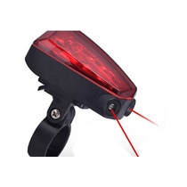 Luz Trasera Bicicleta 5 Leds Ultrabrillantes Luz Laser